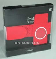 GENUINE APPLE iPOD NANO ARMBAND RED BOXED & NEW